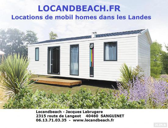 LANDES LOCATIONS MOBIL HOMES LUXE NEUF 2016 CPG 4****